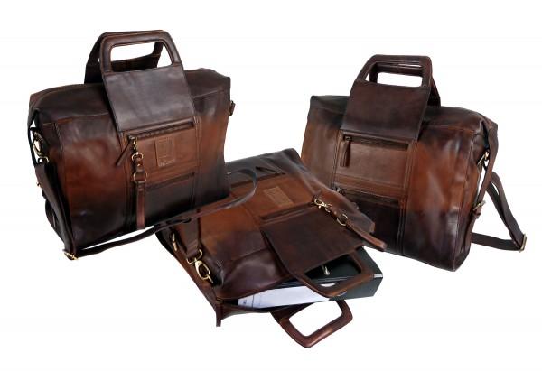 XXL Businessbag *SHADOW* 25-braun/brown