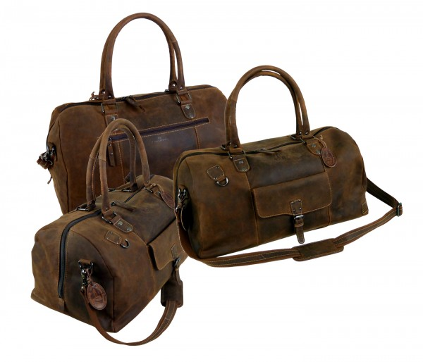 """Sporttasche / Reisetasche / Traveller """"Vintage Buffalo"""" - 25- braun"""