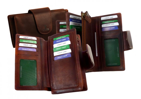 "Multi Wallet / Langbörse ""VT-PORTLAND-COW"" 25- braun"