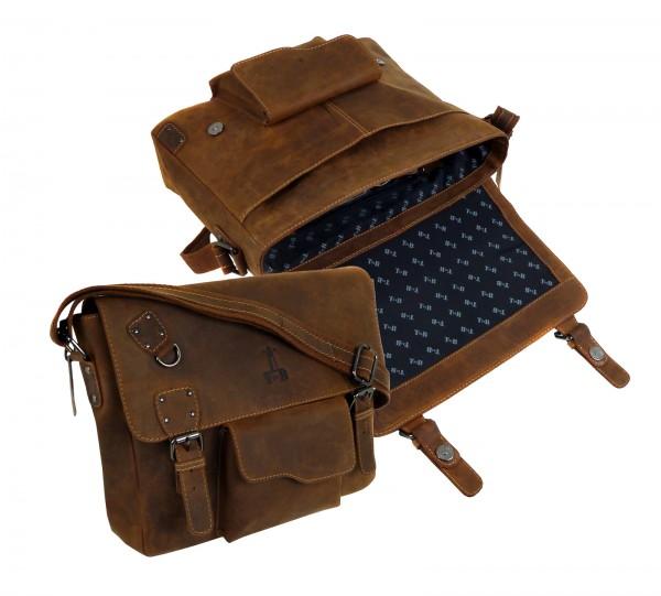 """Casual Tasche Messenger - Kuriertasche A4 """"Vintage Buffalo"""" - 25- braun"""