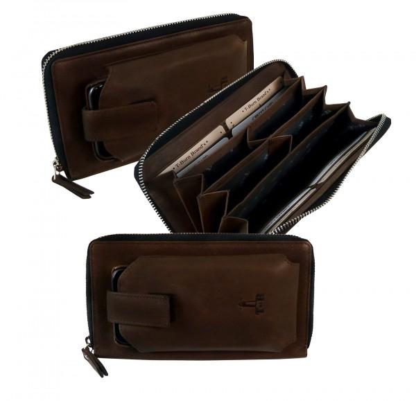 Zip Wallet *CASTER* 25-braun/brown