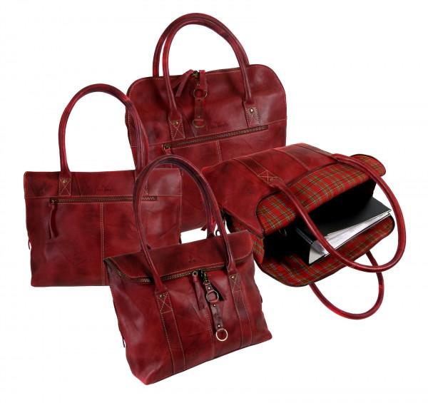 "City-Shopper-Bag ""CHEROKEE"" 22-natur rot / natural red"