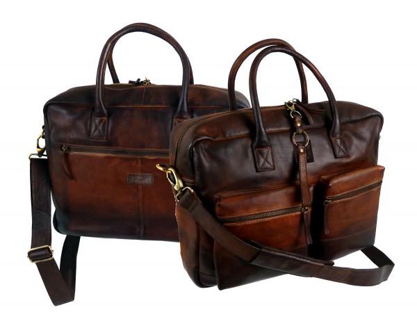 Akten,- Laptopmappe *SHADOW* 25-braun/brown