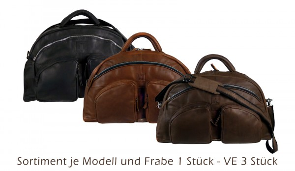 Sport,-Traveller *CASTER*1x schwarz./1x natur/1x braun 3er Verpackung