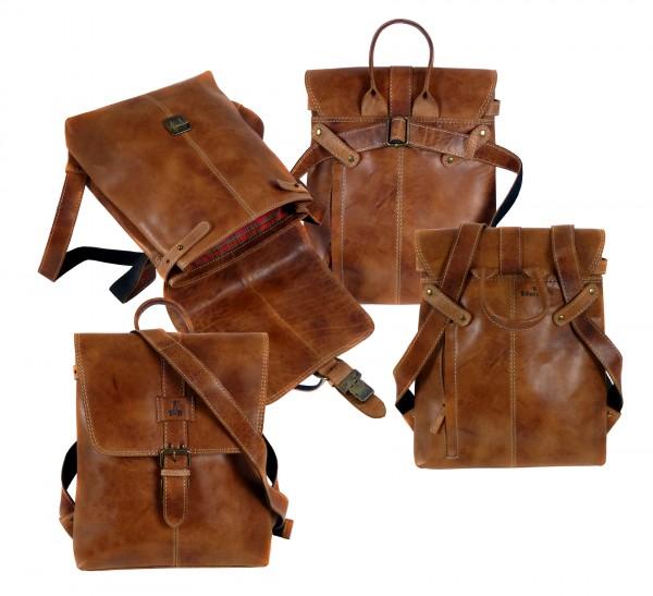 "Multi-Rucksack and Bag two in one ""CHEROKEE"" 25- Cherokee brown / braun"