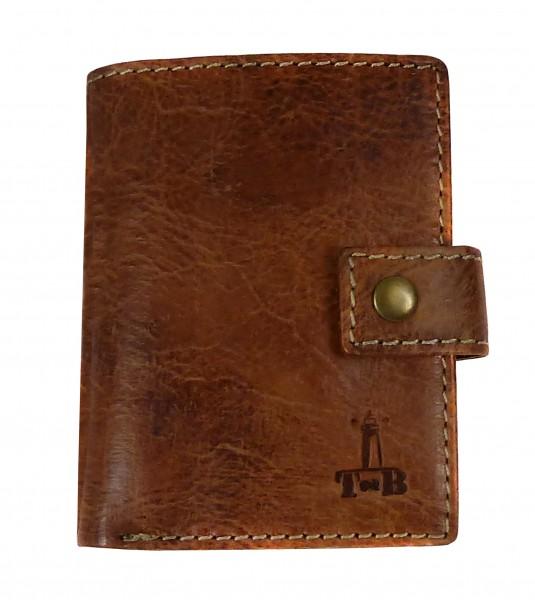 "Slim-Card Mini-Wallet / Börse ""CHEROKEE"" 25- Cherokee brown / braun-Copy"