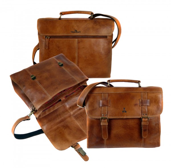 "Casual Briefcase ""CHEROKEE"" 25-braun/brown"