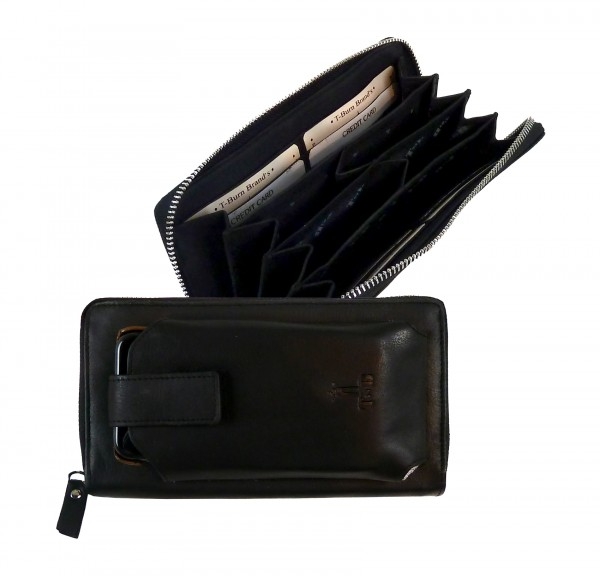 Zip Wallet *CASTER* 20-schwarz/black