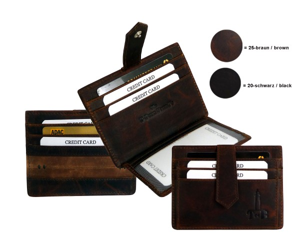 """Card Case """"BRADFORD"""" 20-schwarz-black"""