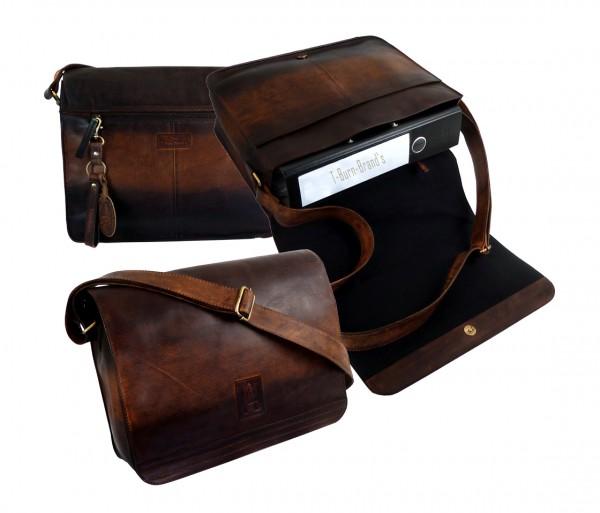 A4 Full Falpbag Unisex / Umhängetasche *SHADOW* 25-braun/brown