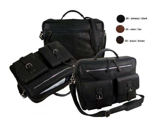 Briefcase/Mappe - Laptopmappe *CASTER* 20-schwarz/black