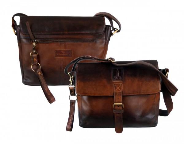 Überschlagtasche Casualbag *SHADOW* 25-braun/brown